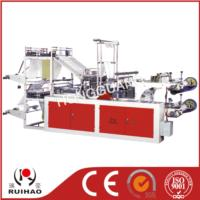 Computer control two-layer rolling bag-making machine for vest & flat bags